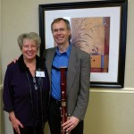"Raeleen with former Palatine High School student, Doug Spaniol. Doug is Professor of Bassoon and Assistant Department Chair at Butler University. He presented a great session with colleague Pam French entitled ""Dealing With Double Reeds."""