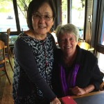 Raeleen pictured here with former teacher and friend, Dorothy Kittaka.